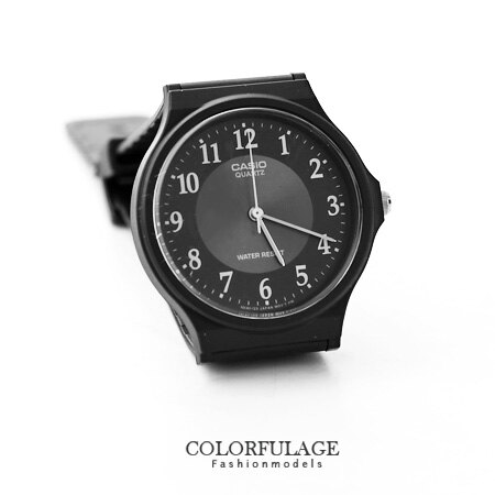 黑色CASIO卡西歐簡約基本款手錶 有保固 中性款腕錶 優質店家 柒彩年代【NE1065】原廠公司貨