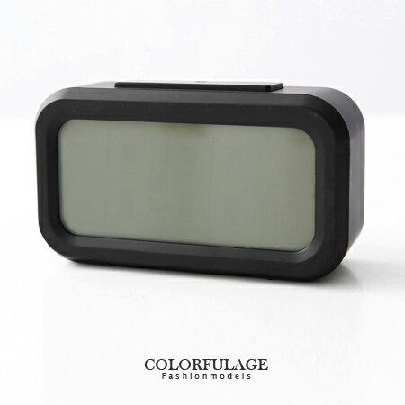 低調黑LCD大數字呈現 多功能夜光鬧鐘.時鐘 實用貪睡 柒彩年代【NE1182】創意配件