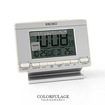 日本品牌SEIKO精工數位電子式鬧鐘 多功能特殊雙鬧鈴座鐘 柒彩年代【NE1197】原廠公司貨
