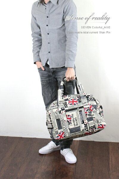 柒彩年代【NZ32】超大容量空間旅行袋~英國國旗造型街頭潮流~旅遊最愛包款 0