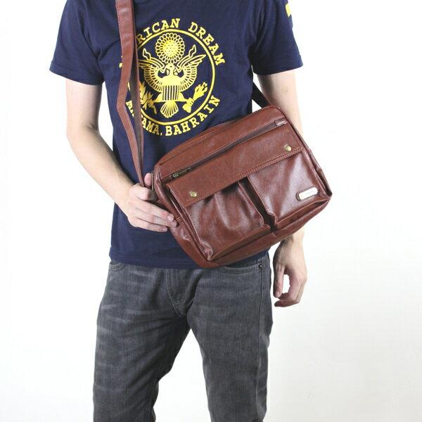 柒彩年代【NZ17】造型版超熱賣搶手側背包~質感皮革中性款式 雜誌肩背 0