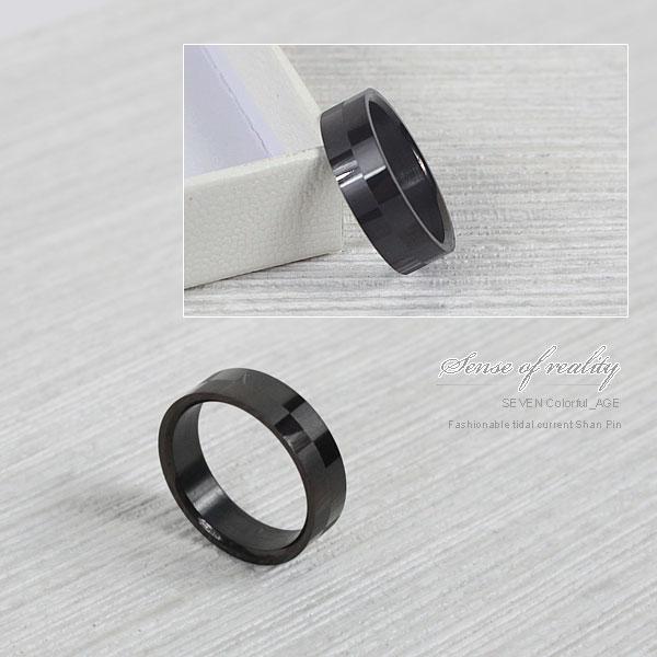 柒彩年代~NC78~霧亮面交叉戒指~西德鋼製抗過敏.氧化對戒~單支