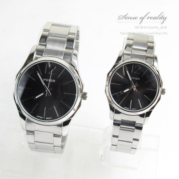 柒彩年代【NE170】超搶手八角錶殼設計手錶~日韓時尚大鏡面情侶腕錶.對錶~單支價格 0
