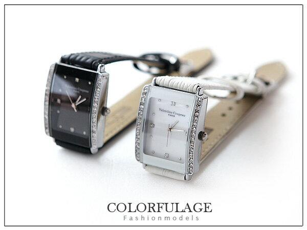 柒彩年代【NE211】范倫鐵諾Valentino原廠正品~真皮錶帶~單支價格 0