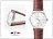 柒彩年代【NE247】超薄錶殼范倫鐵諾Valentino錶款~中性深咖真皮錶帶.超簡約 0