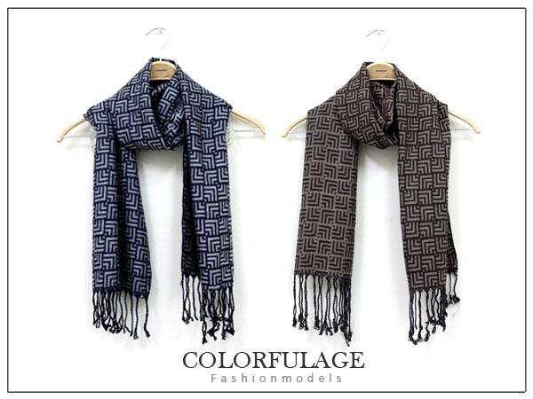 柒彩年代【NM36】秋冬韓系保暖長圍巾 不分男女時尚方格造型~單條價格 0