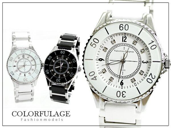 柒彩年代【NE305】崁入滿鑽陶瓷錶帶 范倫鐵諾Valentino手錶~單隻價格 0