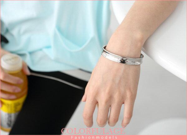 柒彩年代~NA61~西德鋼製一體成型鋼製手環^~情侶手環.簡約素面專櫃 .單個