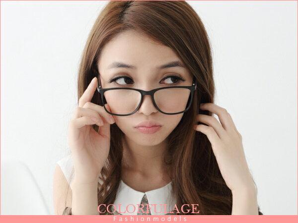 柒彩年代【NY125】細版大鏡框黑膠設計 不分男女都可以配戴 東區小物˙單支價格