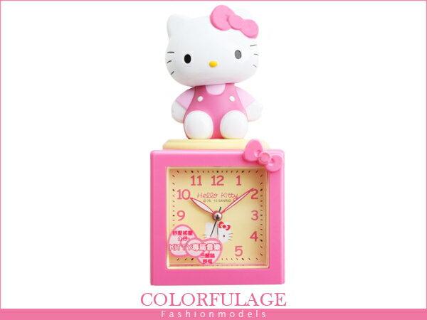 柒彩年代【NE499】Hello Kitty搖擺公仔音樂鬧鐘 凱蒂貓原廠公司貨 貪睡鬧鐘.時鐘