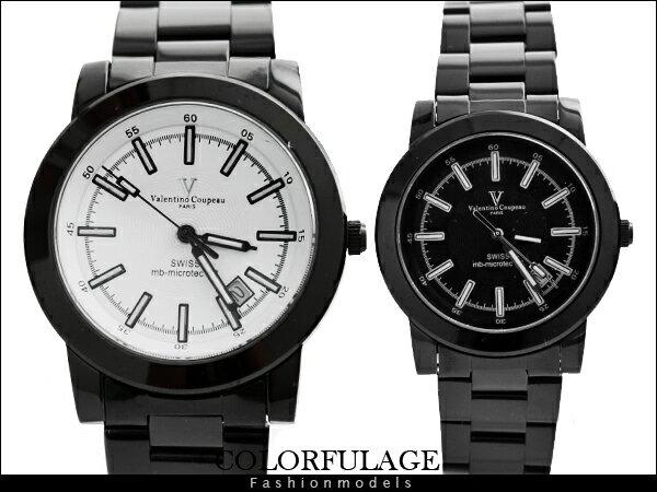 柒彩年代【NE511】專櫃頂級瑞士氚氣燈管發光水鬼腕錶 范倫鐵諾Valentino藍寶石手錶~單隻