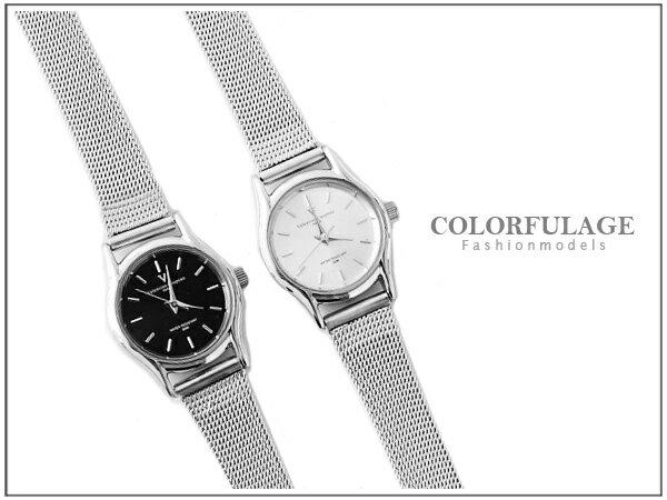 柒彩年代˙Valentino范倫鐵諾 輕巧超薄設計錶款【NE532】小鏡面鋼索手錶婉錶~單支價格 0