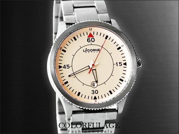 柒彩年代【NE551_1】力抗LICORNE狙擊系列極限殺敵時尚腕錶 .藍寶石水晶手錶~公司貨LI009MWYA