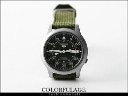 SEIKO帆布錶帶自動 機械錶 手錶 柒彩年代