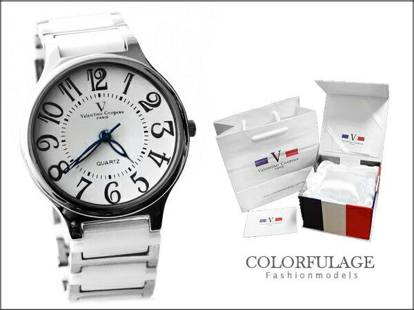 柒彩年代˙精密陶瓷獨特的切割面強化鏡片 范倫鐵諾Valentino手錶 公司貨【NE611】單支價格 0