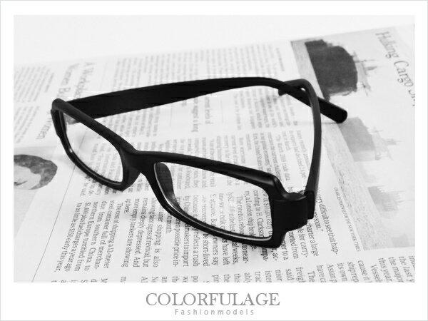 柒彩年代【NY42】窄版簡約素面少見的全白色澤眼鏡框~超百搭型男配件!