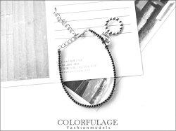 柒彩年代˙輕龐克甜美風格 經典銀色澤個性拉鍊造型手鍊手環【NA218】單條價格