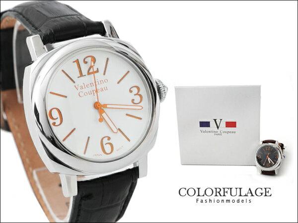 柒彩年代。時尚品味型男大錶殼設計款不鏽鋼手錶 范倫鐵諾Valentino 【NE772】單隻 0