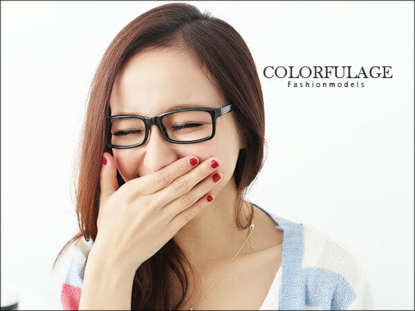 柒彩年代˙素面 百搭款 膠框 韓國版型黑框眼鏡 中性百搭~NY180~單支 ~  好康折扣