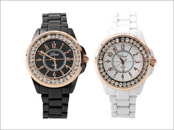 柒彩年代˙鑲滿鑽華麗精鑽手錶 不掉鑽滑動設計 中性男女都可以配戴  【NE782】單支價格 0