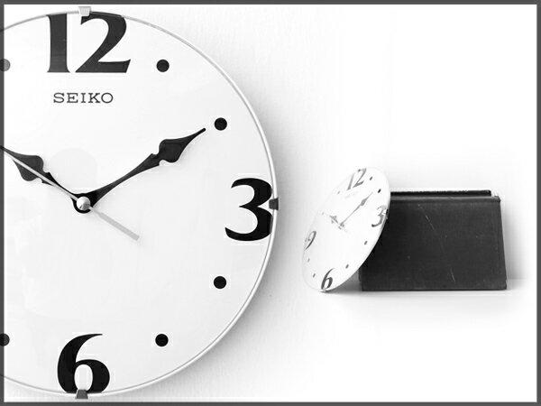 SEIKO精工時鐘 座掛兩用滑動式靜音秒針 居家時尚實用 柒彩年代【NE855】原廠公司貨 0