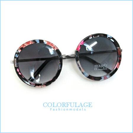 摩登膠框太陽眼鏡 外銷韓. 鏡框 獨特性十足抗UV400 柒彩年代~NY225~單支