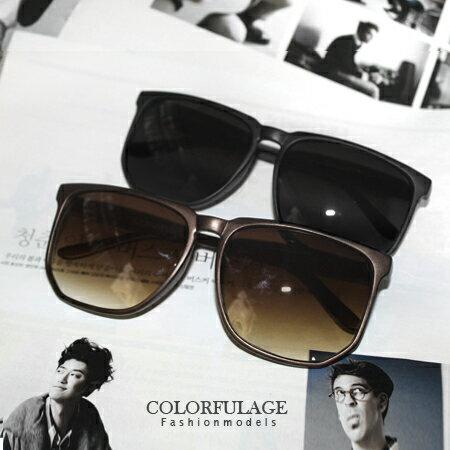 MIT台灣製抗UV400墨鏡 率性大方韓版大方框太陽眼鏡 柒彩年代【NY224】單支價格 0