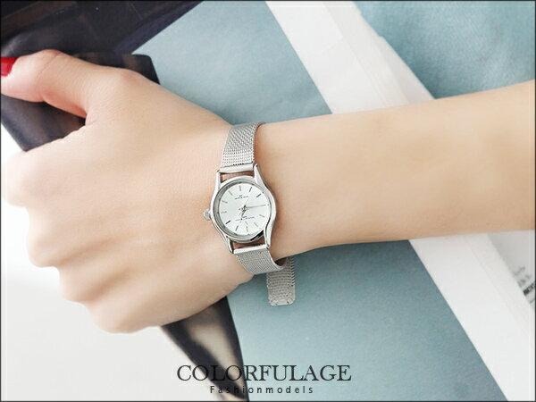 輕巧超薄 錶款 小鏡面鋼索手錶婉錶 Valentino范倫鐵諾 柒彩年代~NE532~單支