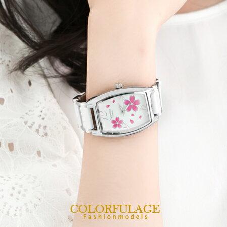 范倫鐵諾Valentino櫻花酒桶造型陶瓷錶手錶 柒彩年代【NE341】 單支