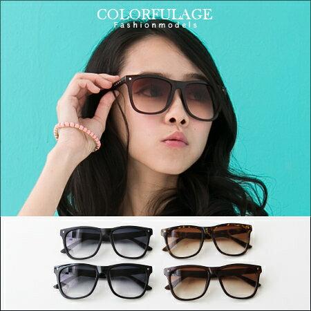 柒彩年代˙韓系太陽眼鏡西海岸膠框墨鏡 復古方框抗UV400【NY200】單支價格 0