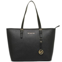 (Smile) MICHAEL KORS JET SET TRAVEL金字防刮皮革拉鍊肩背包Michael Kors Jet Set Travel Saffiano Leather Top-Zip Tote 30S4GTVT2L