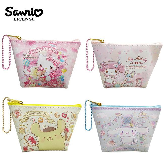 【日本正版】三麗鷗 船型 零錢包 收納包 小物收納 凱蒂貓 美樂蒂 布丁狗 大耳狗 Sanrio