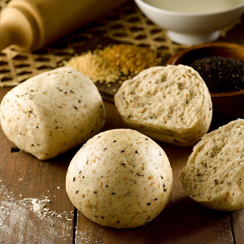 【全麥高纖三麻饅頭】1包5入(每顆約130克+/-5克) ▶玉食堂手工養生包子饅頭