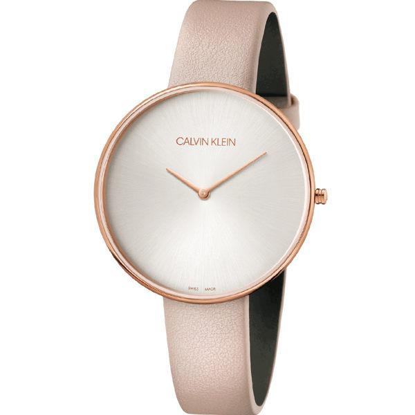 Calvinklein卡文克萊望月系列(K8Y236Z6)樸素簡約設計腕錶玫瑰金42mm