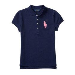美國百分百【全新真品】Ralph Lauren Polo衫 RL 短袖 素面 網眼 大馬 女 深藍 XS S號 美國青年版 H869