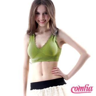 TV熱銷英國COMFIA康裴亞 性感蕾絲美胸無痕(縫)內衣-綠(BAC102GR)