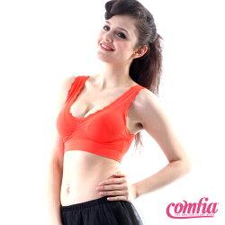 TV熱銷英國COMFIA康裴亞 性感蕾絲美胸無痕(縫)內衣-橘(BAC102OR)