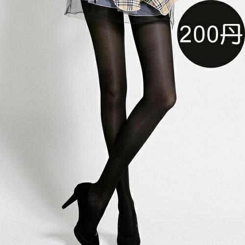 足下物語200丹輕盈美腿襪S-XL(黑)