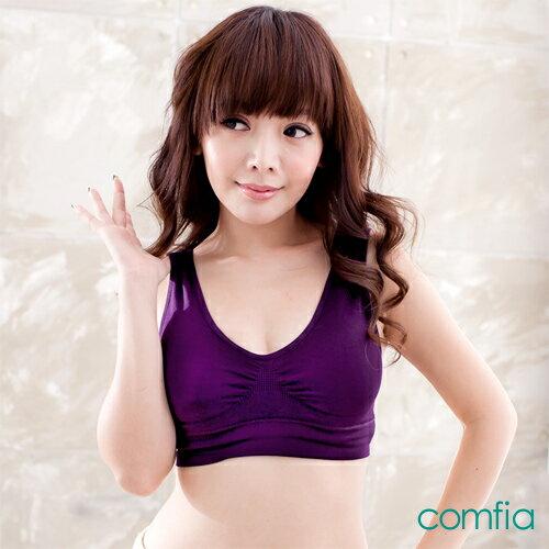 TV熱銷英國COMFIA康裴亞 輕感美胸無痕(縫)內衣-紫(BATV070V)