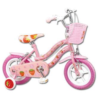 寶貝樂 12吋小草莓兒童腳踏自行車(粉)【QW1250P】(BEQW1250P)