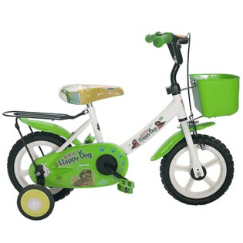Adagio12吋酷樂狗輔助輪童車附置物籃-綠色(BEYJ128G)