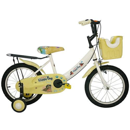TheLife 樂生活:Adagio16吋酷樂狗打氣胎童車附置物籃-米色(BEYJ173UW)