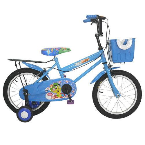 Adagio 16吋卡布奇諾打氣胎童車附置物籃-藍色(BEYJ179B)