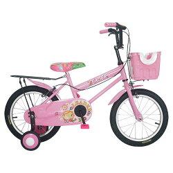 Adagio 16吋卡布奇諾打氣胎童車附置物籃-粉色(BEYJ179P)