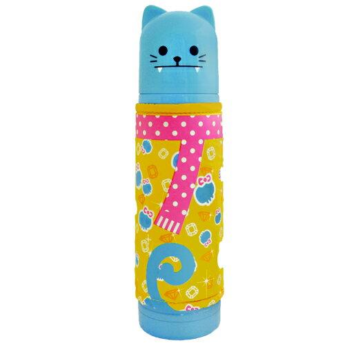 可愛日風貓咪家族保溫瓶500ml-藍色(BLJP180471B)