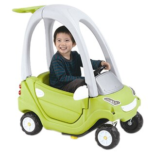 TheLife 樂生活:【寶貝樂】豪華嘟嘟造型學步車附踏板及控制桿-綠色【CA-11G】(BTCA11G)