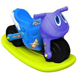 寶貝樂 小爵士摩托車造型學步助步車附搖搖板(藍)(BTCA17BA)