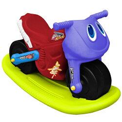 寶貝樂 小爵士摩托車造型學步助步車附搖搖板(紅)(BTCA17RA)
