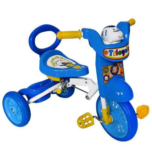 寶貝樂 兒童折疊式三輪車-藍色(BTHF586)
