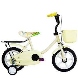 【Adagio】12吋悠遊童車附置物籃(白)~台灣製造(ME0046W)